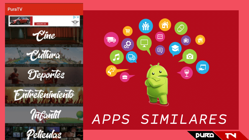 apps iguales a pura tv apk alternativas