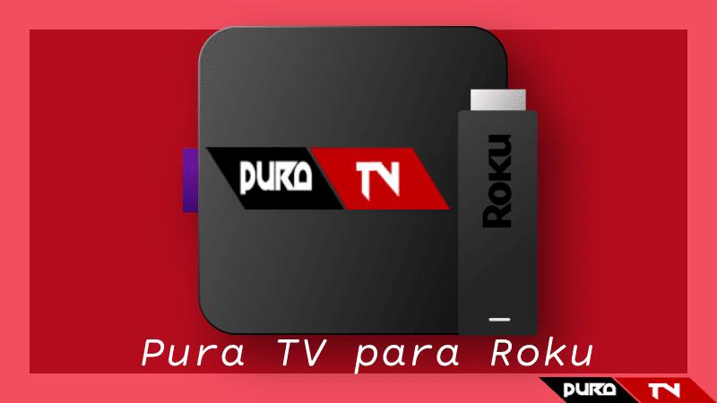conectar pura tv para roku apk