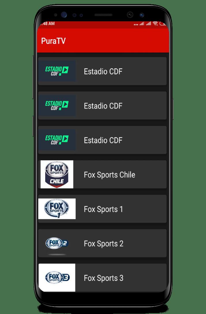 ver canales de futbol con pura tv